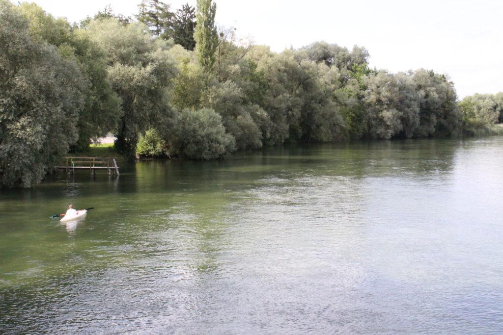 Mit dem Kanu auf der Alz